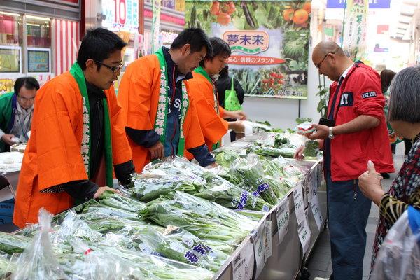 採れたて野菜の販売