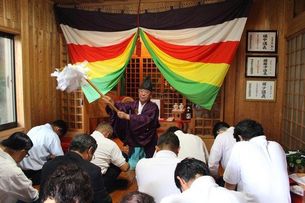 河内稲荷神社でミカンの出荷・輸送の安全を祈願