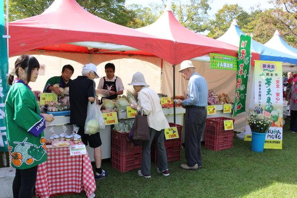 新鮮な農産物の販売