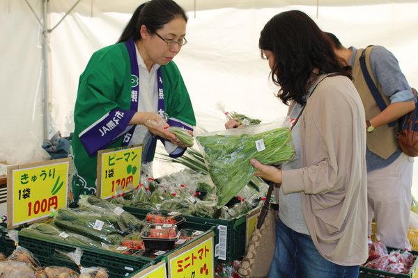 安心・安全な野菜をPRしました