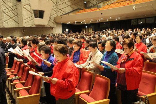 JA女性組織綱領と5原則を唱和する女性部員