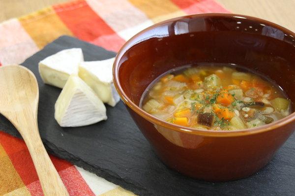 野菜と麦のスープリゾット